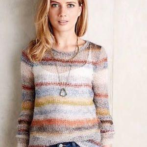 Anthropologie Moth Horizontal Striped Sweater
